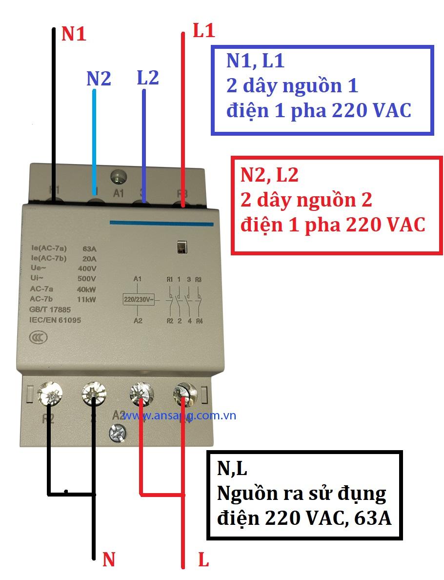 Đổi 2 nguồn điện tự động