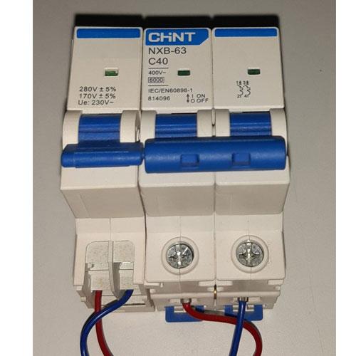 MCB tích hợp chức năng bảo vệ chống điện áp cao, điện áp thấp, quá tải, chập mạch