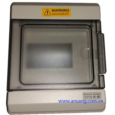 Tủ điện nhựa chống nước, tủ điện gắn CB, MCB 6 line