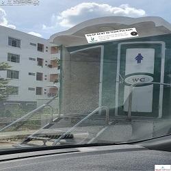Xe kéo nhà vệ sinh di động VS2C