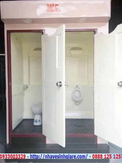 Nhà vệ sinh di động Thành Phố Xanh VS2C màu trắng