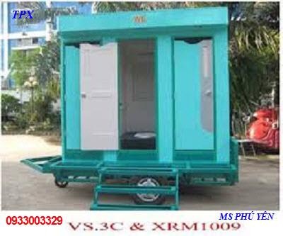 Xe kéo nhà vệ sinh giá rẻ TPX