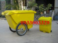 Xe rác đôi TPX