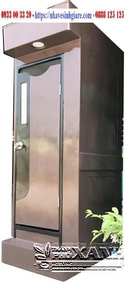 Nhà Vệ Sinh Composite Thành Phố Xanh TPX VS1C Màu Socola