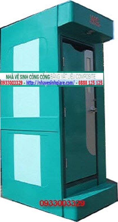 Nhà Vệ Sinh Di Động Composite 1C Màu Xanh Lá
