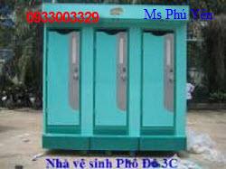 Nhà vệ sinh lưu động 3 buồng nhựa Composite 0933003329