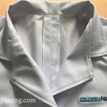 May đồng phục áo bác sĩ (blouse) bệnh viện Columbia
