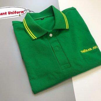 May đồng phục áo thun cá sấu quảng cáo công ty Thiên An