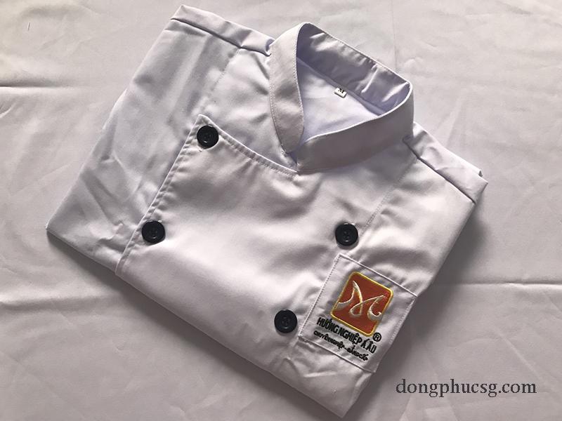 Áo đồng phục đầu bếp trường hướng nghiệp á âu