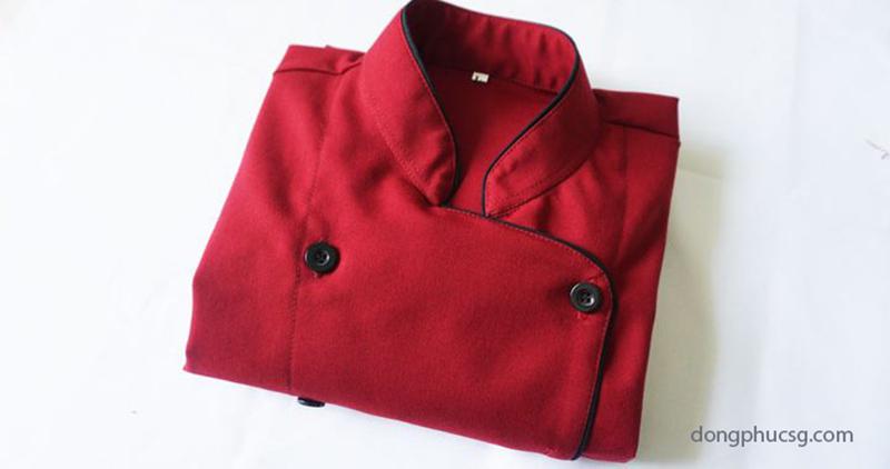 Áo đồng phục đầu bếp màu đỏ
