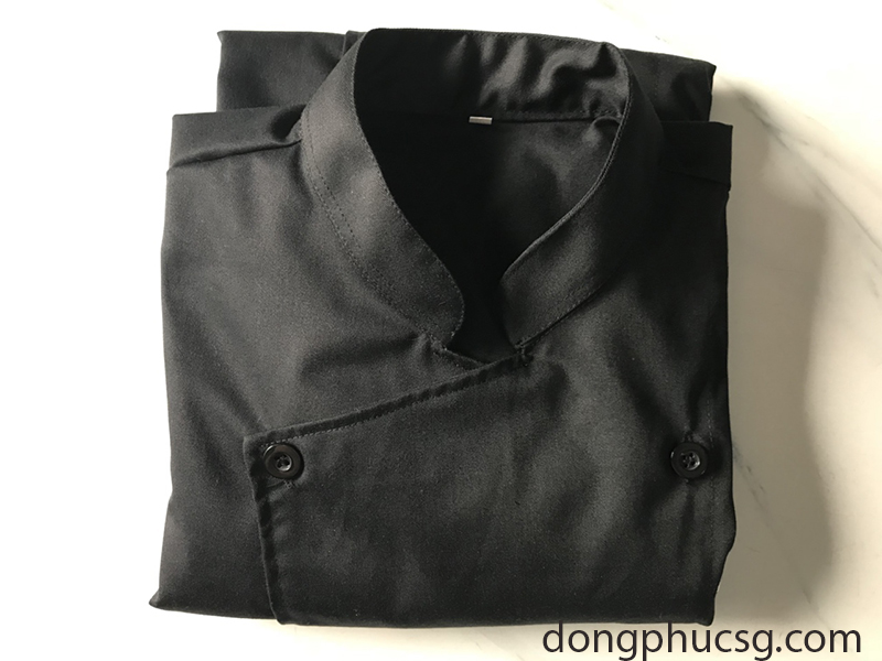 May đồng phục áo bếp nhà hàng Lee spring roll, may dong phuc ao bep nha hang lee spring roll