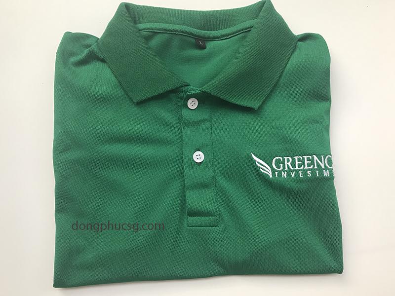 May đồng phục áo thun cá sấu quảng cáo công ty Greencap Investment
