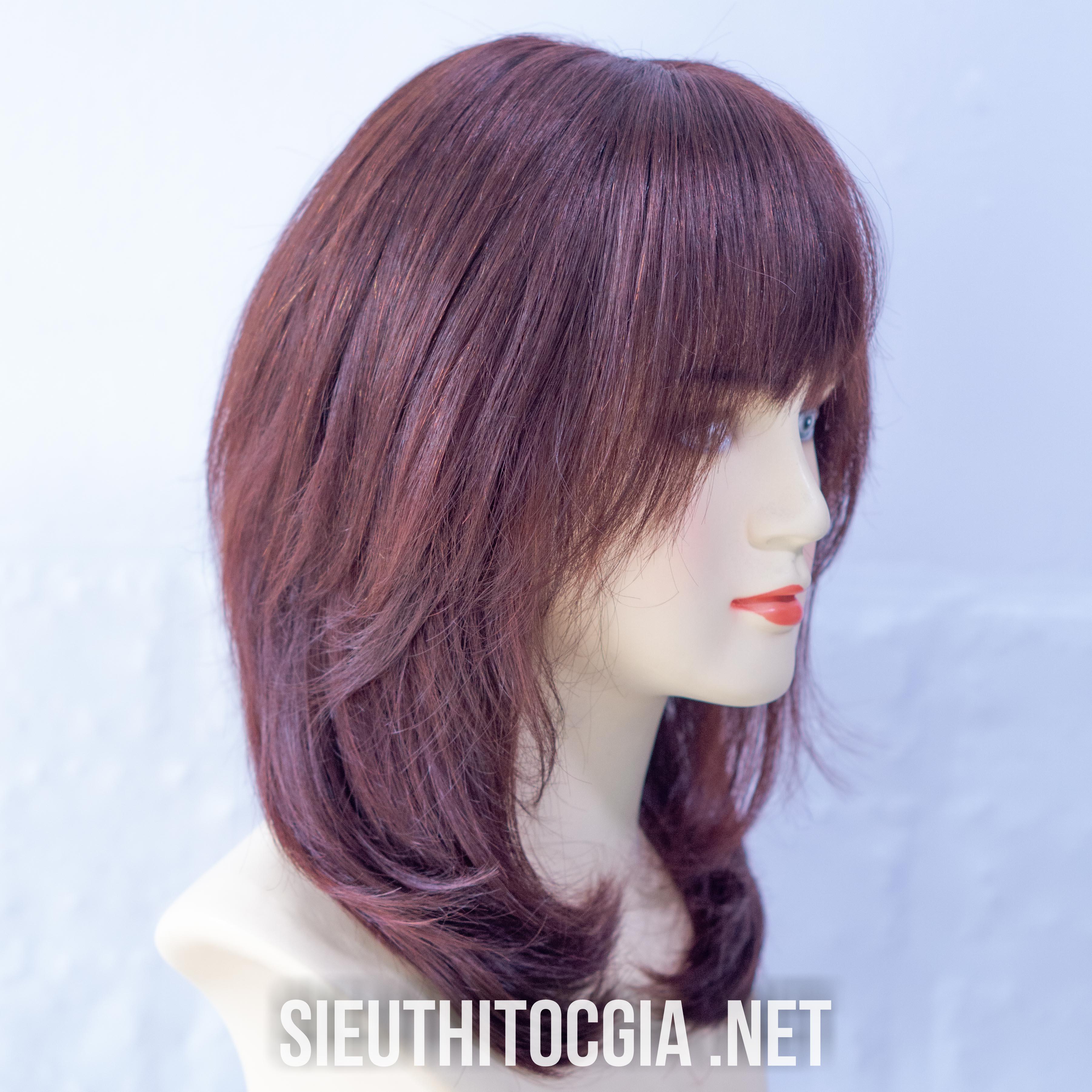 Tóc Tóc Giả Nữ Lở 40cm Thật 100%