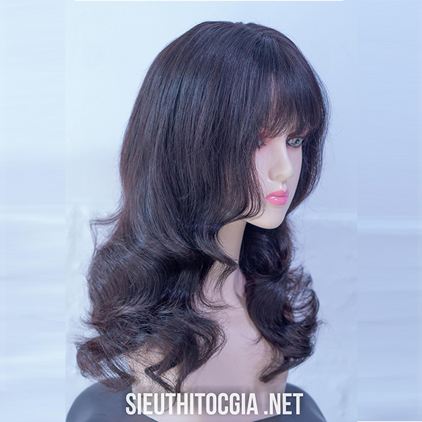 Tóc Giả Nữ Lở 50cm Thật 100%