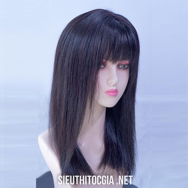 Tóc Giả Nữ Lở 40cm Thật 100% - 330