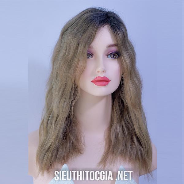 Tóc Giả Nữ Lở 40cm Thật 100% - 550