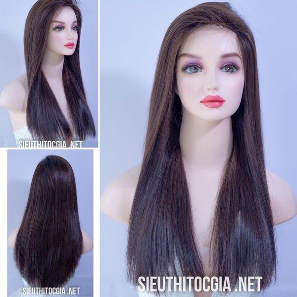 Tóc Giả Nữ Nguyên Đầu 100% Tóc Thật