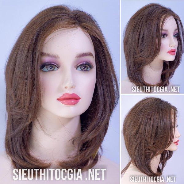 Tóc Giả Nữ Lở 40cm Thật 100% - 390