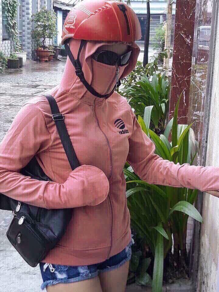 Áo khoác chống nắng khẩu trang