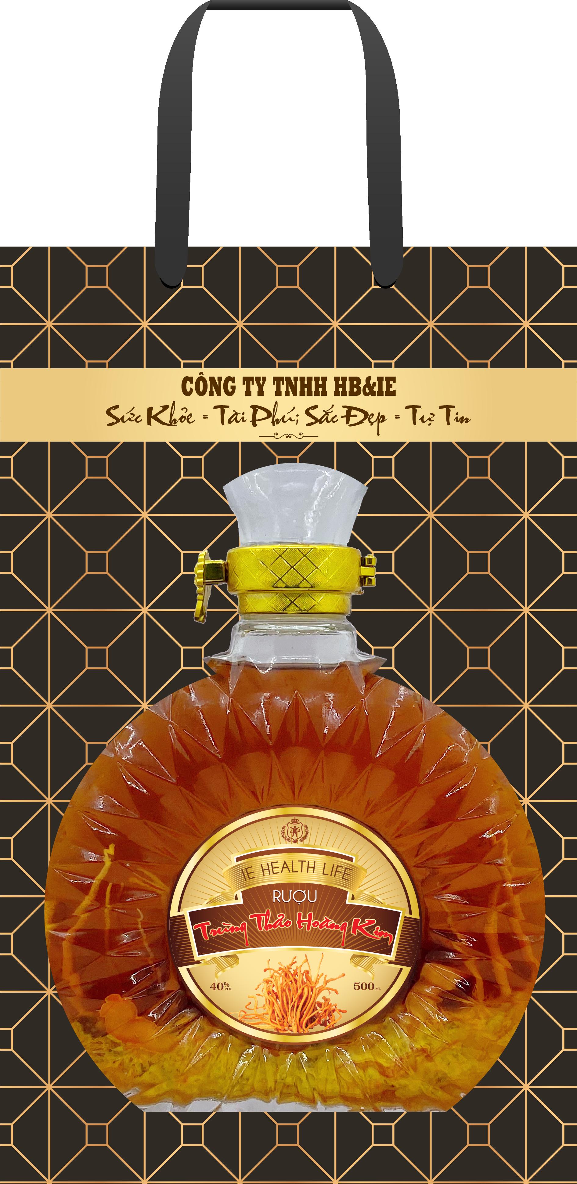 Rượu Trùng Thảo Hoàng Kim