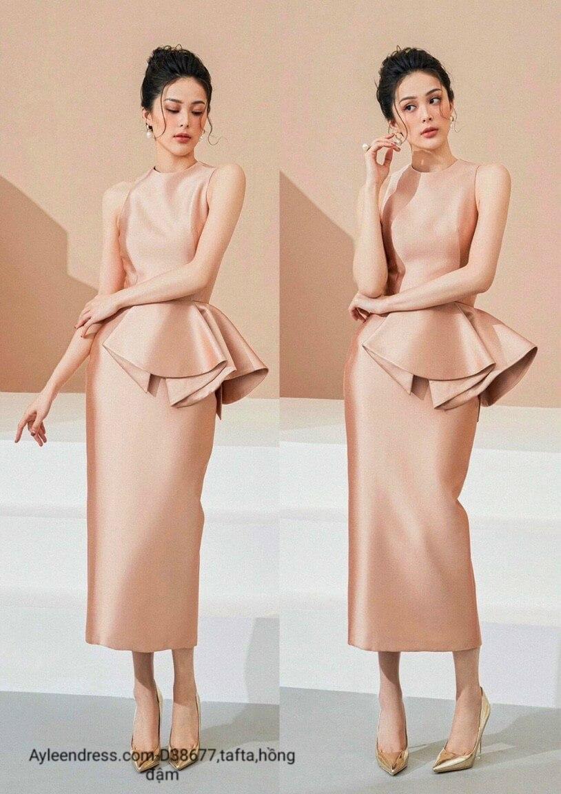 Đầm body tafta peplum
