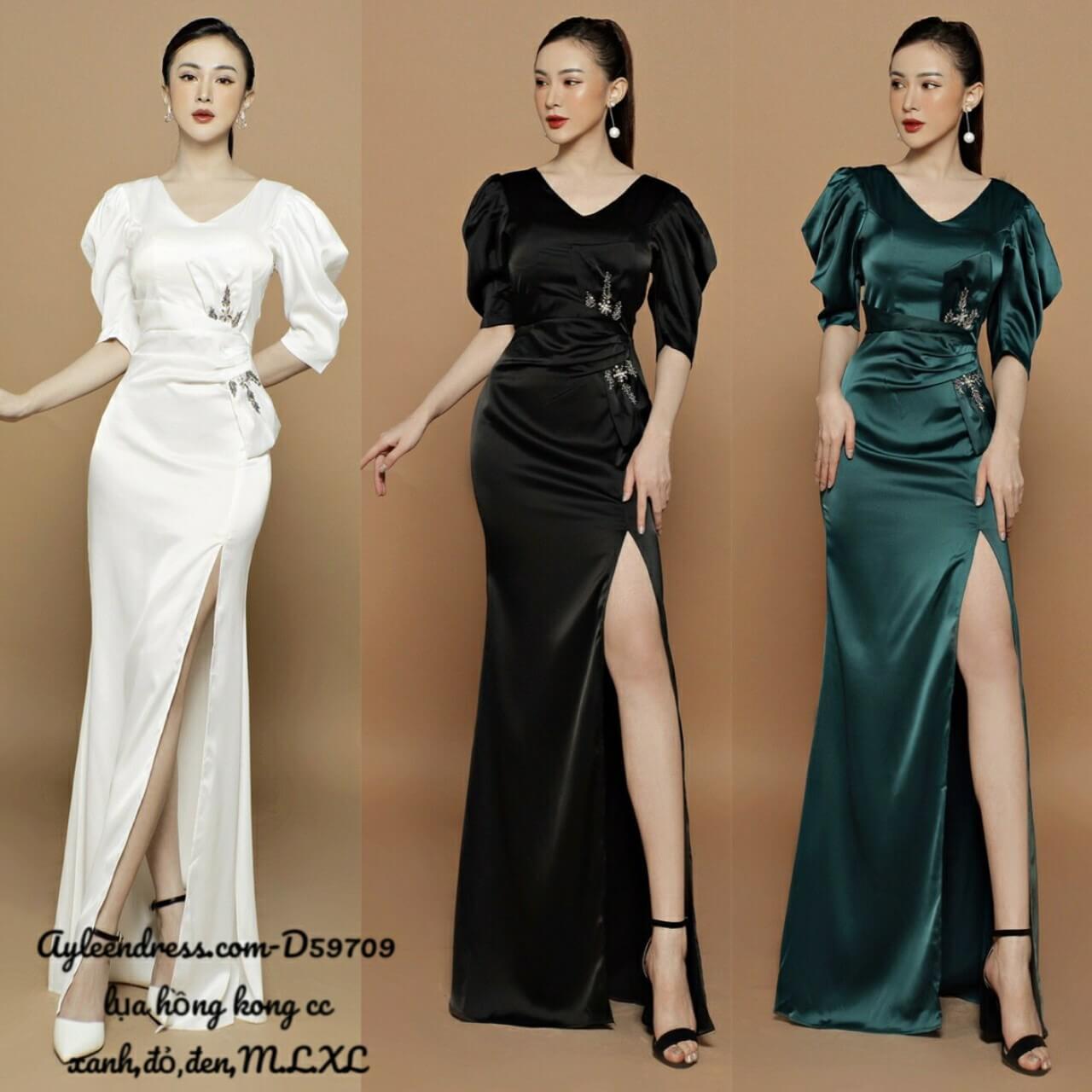 Đầm dạ hội phi trễ vai 1 bên dây