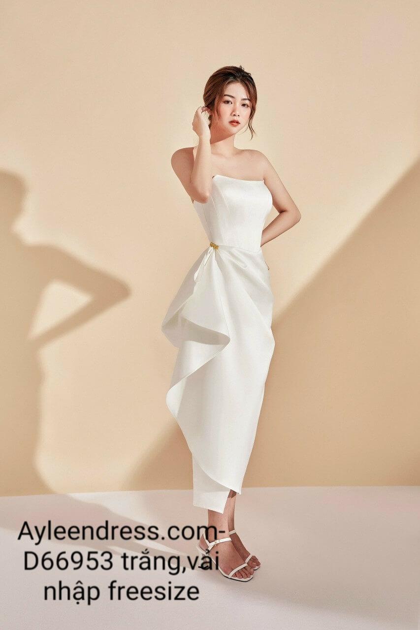 Đầm dạ hội thiết kế cúp ngực bèo eo sang trọng