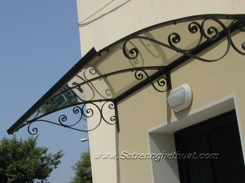 Wrought iron awnings Art
