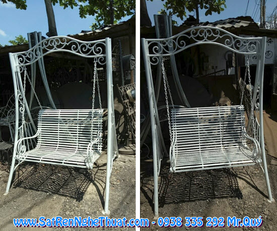 Outdoor wrought iron swing 2017 design SRNT-XD0021