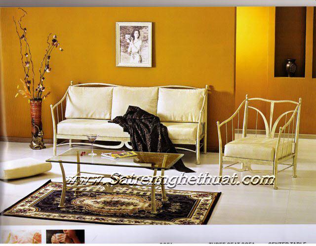 Bộ bàn ghế sofa sắt rèn mỹ thuật BGNT006