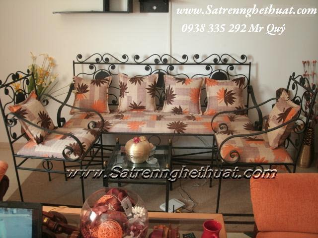 Bộ bàn ghế sofa sắt rèn mỹ thuật BGNT002