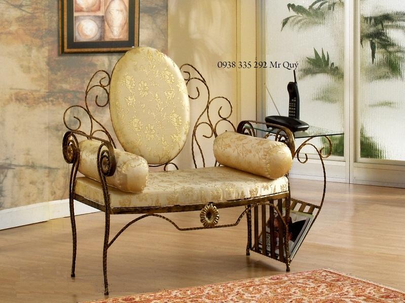 Wrought iron sofa beautiful art