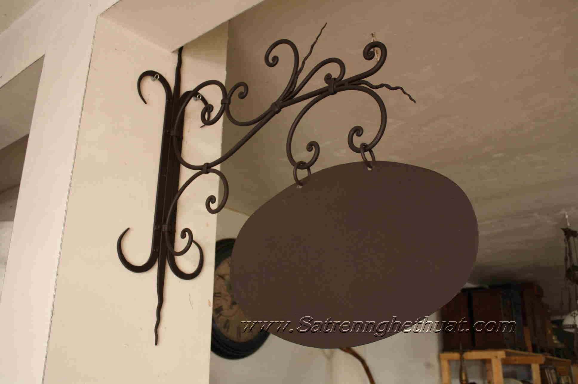 Price Wrought Iron Hanging Signs
