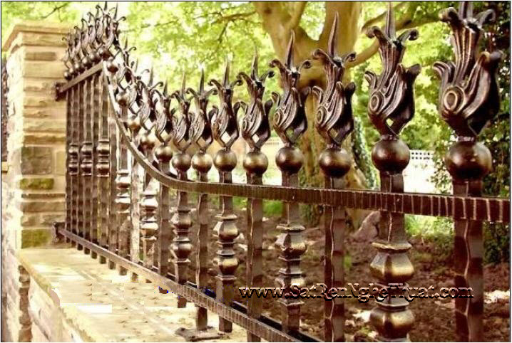 Wrought iron fences beautiful art