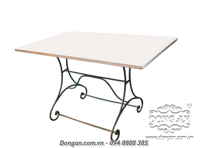 French Rectangular Marble Top Table