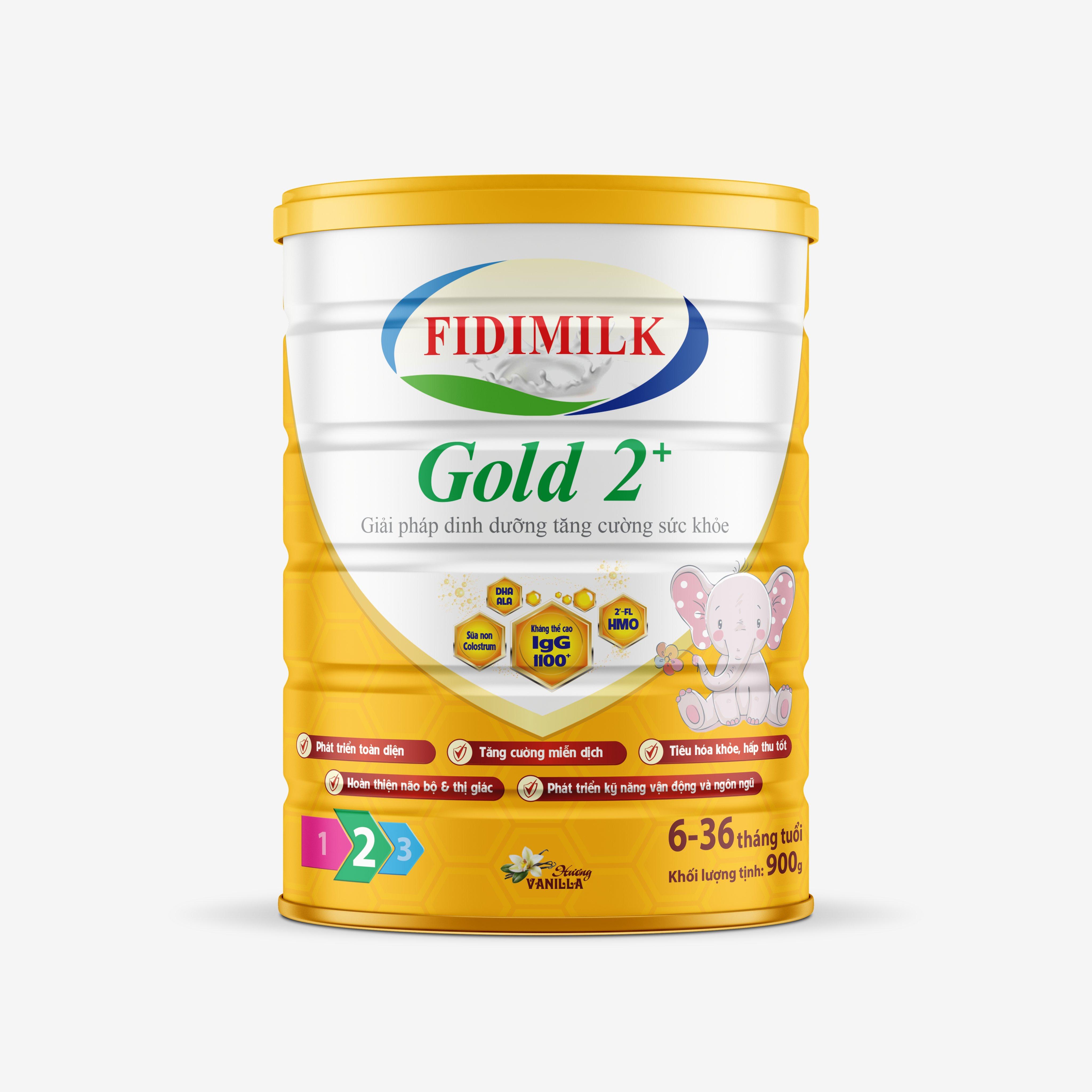 SỮA BỘT FIDIMILK GOLD 2+ 900G