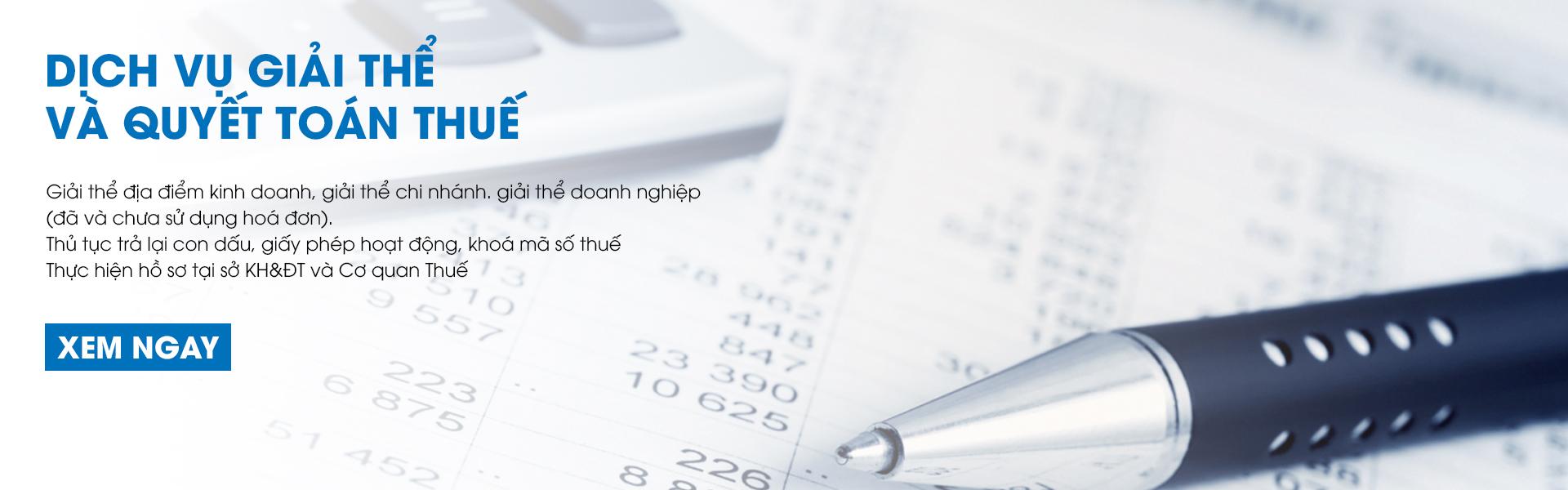 Dịch vụ giải thể và quyết toán thuế