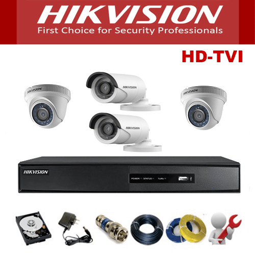 TRỌN BỘ 04 CAMERA HIKVISION 1M HD720P