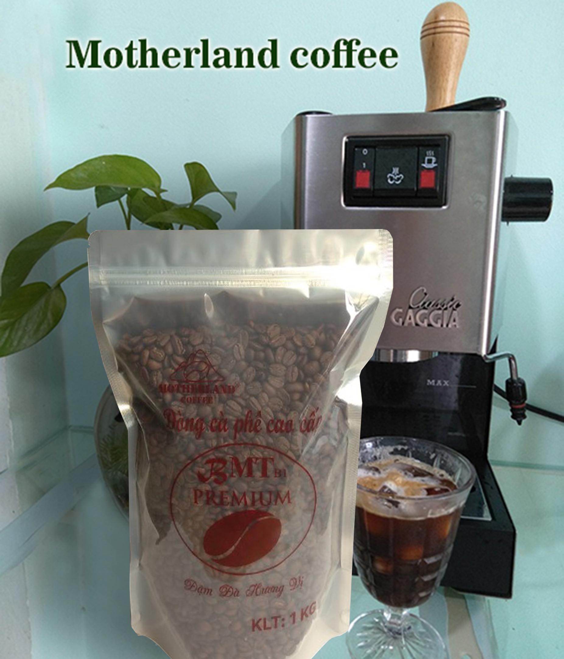 Cà phê hạt rang mộc pha máy