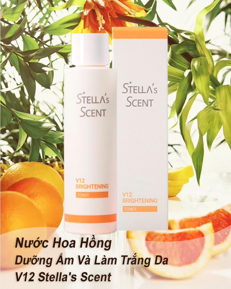 Nước Hoa Hồng Dưỡng Ẩm Và Làm Trắng Da V12 Stella's Scent