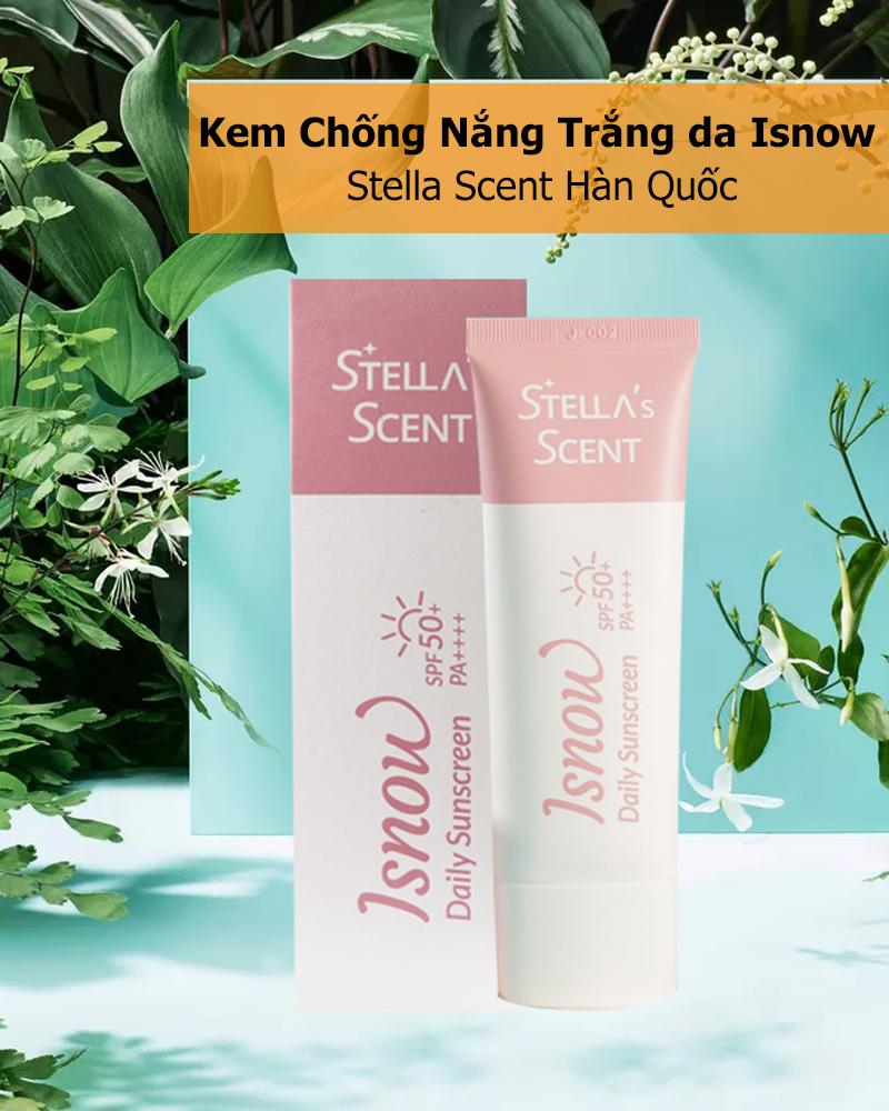Kem Chống Nắng Trắng da Isnow Stella Scent Hàn Quốc