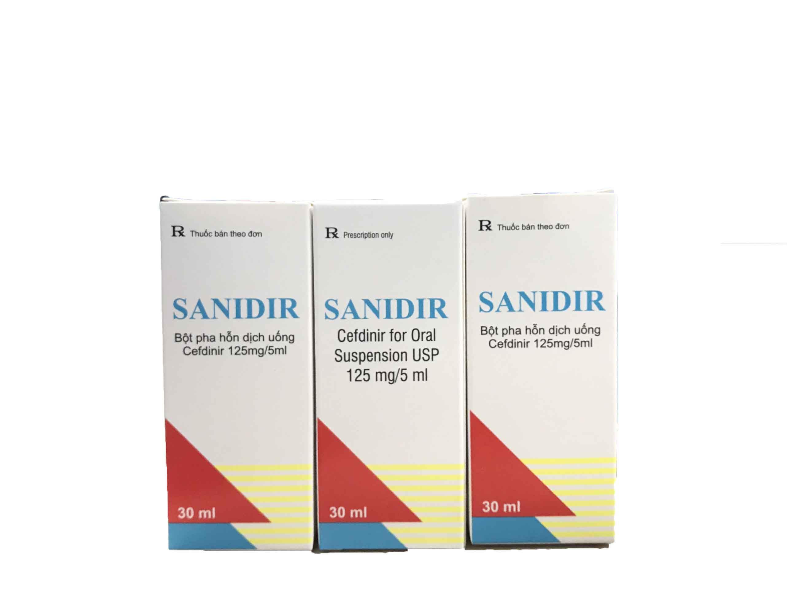 Kháng sinh điều trị nhiễm khuẩn: Sanidir 125mg/5ml ( Chai 30ml)