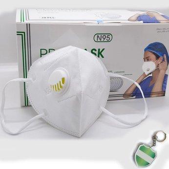 Khẩu trang N95 ProMask cao cấp, có van thở, kháng khuẩn 5 lớp, chống bụi mịn Pm2.5