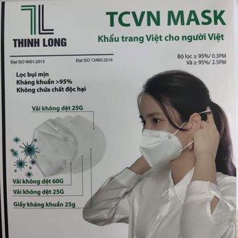 Khẩu trang N95 4 lớp cao cấp Thịnh Long TCVN Mask đạt chuẩn ngăn ngừa vi khuẩn và 95% bụi mịn 0.3PM 2.5PM