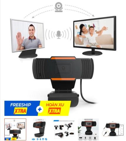 Camera webcam cho Laptop máy Tính học Online họp Online ZOOM