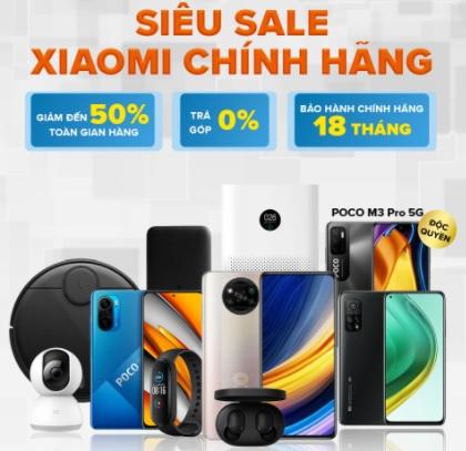 Flash Sales 20% Điện thoại XIAOMI Nguyễn Kim