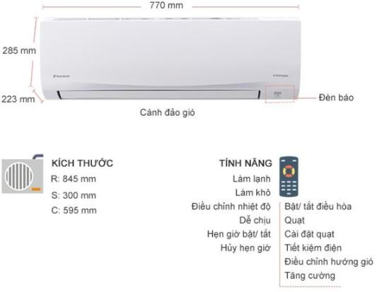 Máy lạnh Daikin Inverter 2 HP giá rẻ nhất