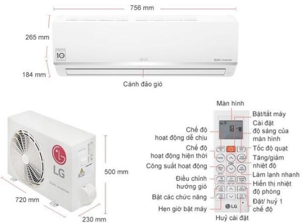 Máy lạnh LG Inverter 1 HP