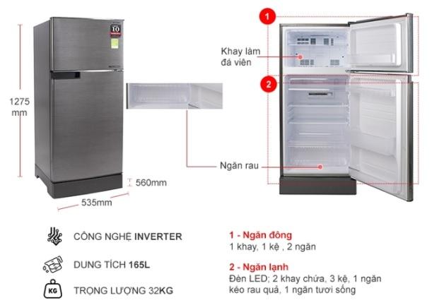Tủ lạnh cở trung giá rẻ vô địch