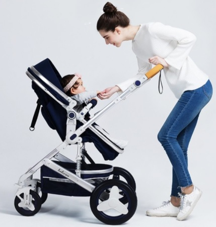 Xe đẩy cho bé nôi nằm gấp gọn 2 chiều có mái che